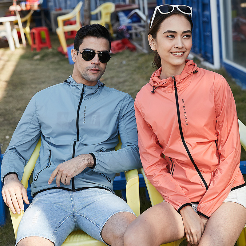 Wind Shield Trench Coat UV-Protection E-Bike Clothes Men And Women Breathable Elasticity Quick-Dry Sun Protection Clothing Outdo