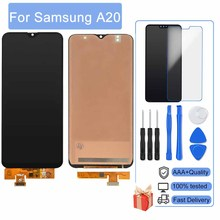 Perfect Quality AAAA For Samsung Galaxy A20 A205 A205F LCD Display Touch Screen igitizer Assembly With Frame 100% No dead pixels
