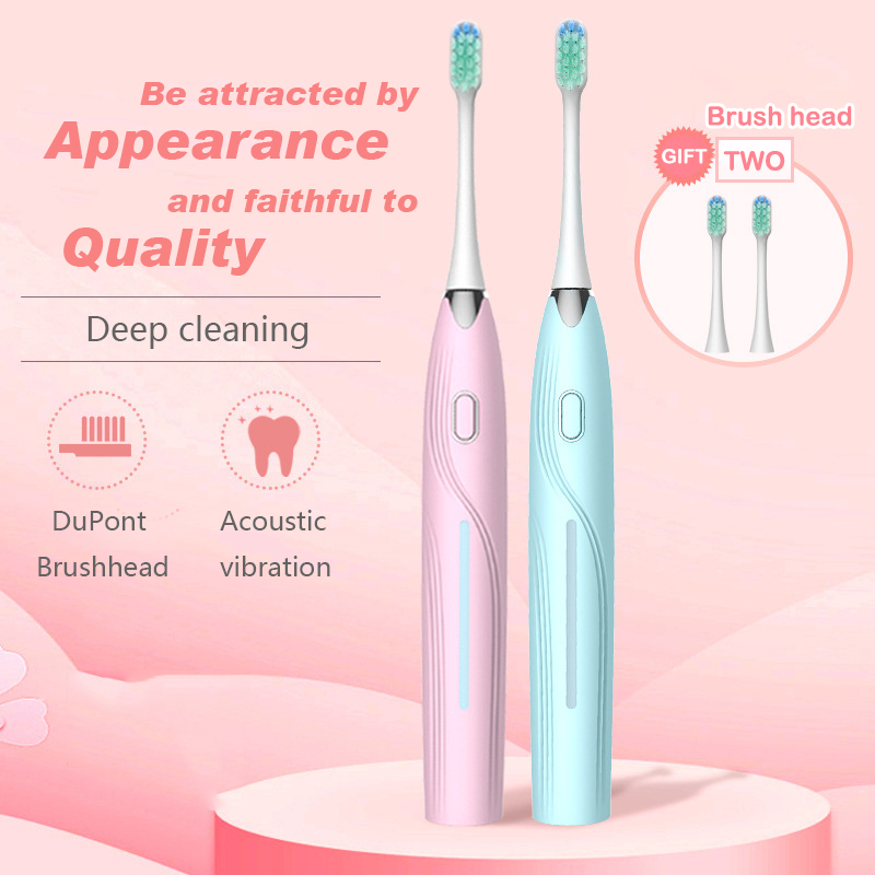 DXM Sonic Electric Toothbrush Timer Teeth Whitening Brush 5Mode USB Rechargeable Toothbrush Replacement Head Gift Adult Products