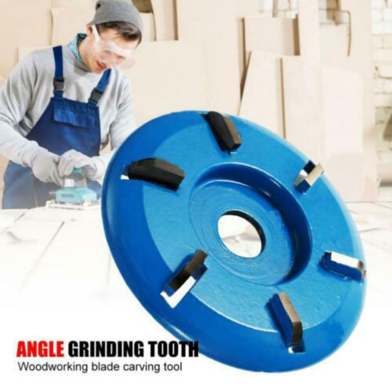 Three/Six Teeth Power Wood Carving Cutter Disc Milling Attachment 90mm Diameter 16mm Bore Arc/Flat For Angle Grinder Attachment