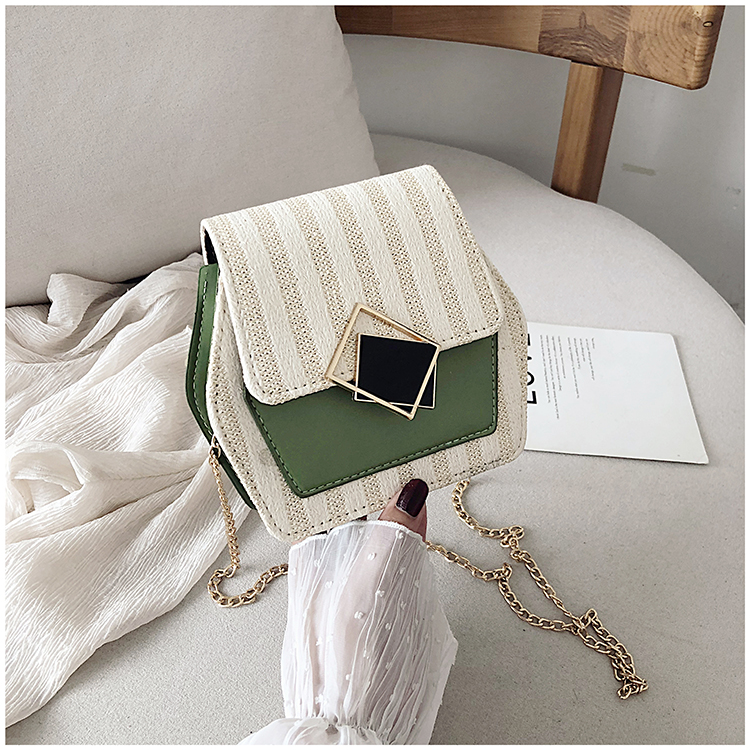 Mini Bag Girl 2019 New Korean Edition Fresh and Popular Fashion Chain PU Slant Bag Personal Bag Mobile Geometric Bag Clothes 81