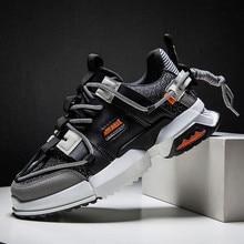 2019 Mới Giày Mùa Thu Nam Thời Trang Giày Thoáng Khí Nhẹ Lưới Phối Ren Phối Màu Sắc Đế Giày Sneaker Nam Giày thường