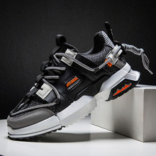 2019 New Casual Shoes Autumn Men Fashion Sneakers  Breathable Light Mesh Lace Up Mixed Colors Flats Male Sneaker Casual Shoes