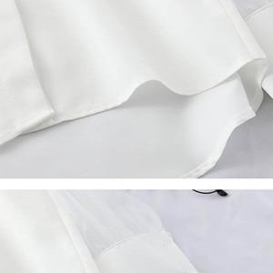 Image 5 - HELIAR Blouse pour femmes, épaules dénudées, Blouse en Organza avec bretelles ajustables, Spaghetti, Transparent, boutons, automne 2020