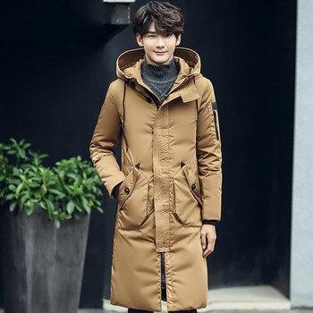 Winter Jacket Men Long Down Jacket Male Thick Parka Slim Korean Black Coat Mens Clothing Overcoat Casaco Masculino KJ505