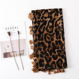 Image 4 - Foulard léopard pour femmes, Cheetah grande taille, imprimé Animal, châle, écharpe légère