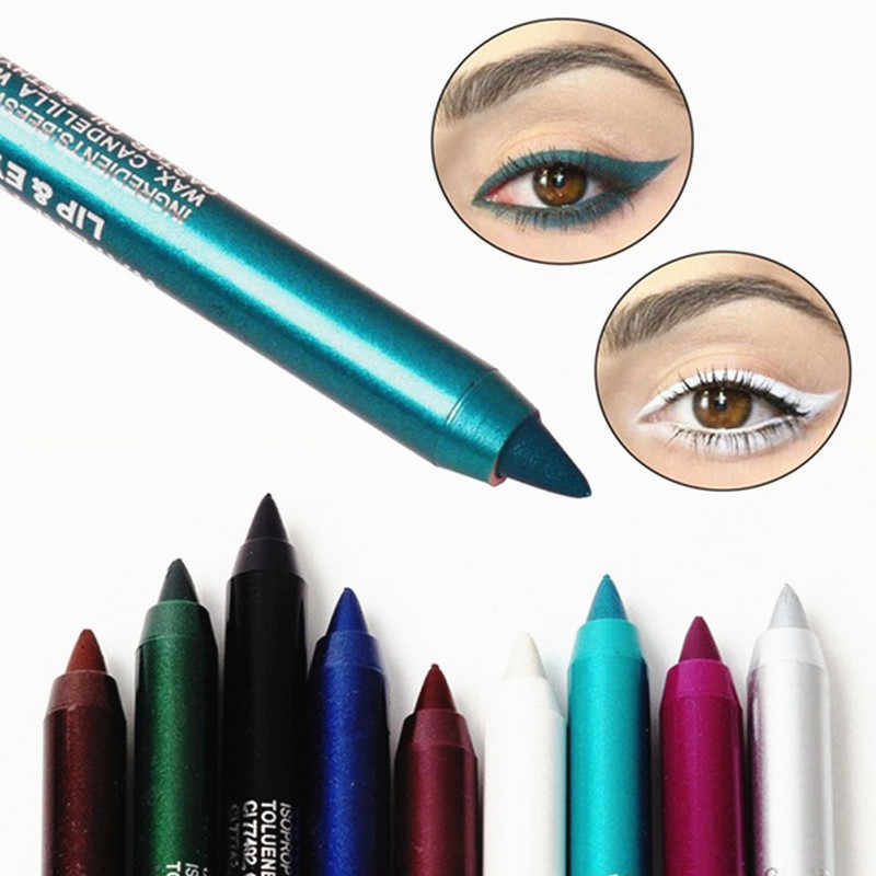 1PC New Fashion Women Long-lasting Eye Liner Pencil Pigment White Color Waterproof Eyeliner Pen Eye Cosmetics Makeup Tools
