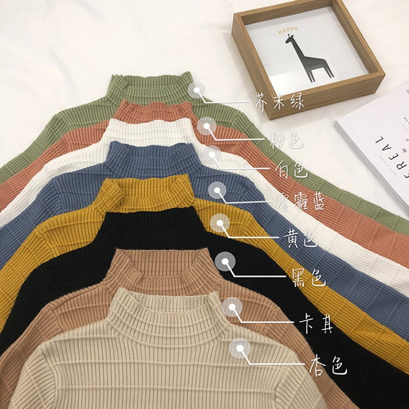 Winter Autumn Women Sweater High Elastic Solid Turtleneck Sweater Women Slim Sexy Tight Bottoming Knitted Pullovers in Pullovers from Women 39 s Clothing