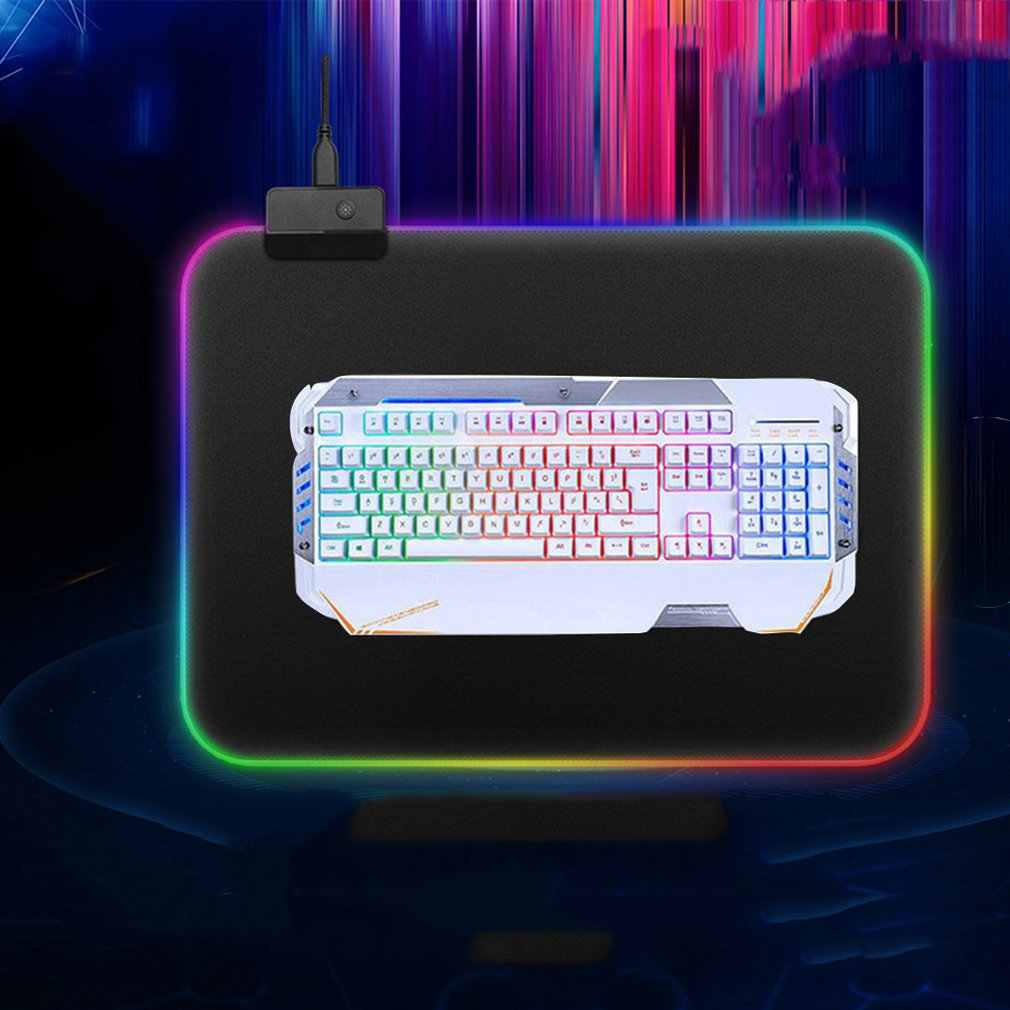 Sihirli renk Mouse Pad RGB büyük masa Mat LOL PUBG oyun klavye Mouse Pad