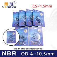 Boxed nitrile rubber NBR seal O-ring thickness CS 1.5mm OD 4/4.5/5/5.5/6/6.5/7/7.5/8/8.5/9/9.5/10/10.5mm Gasket oring Waterproof
