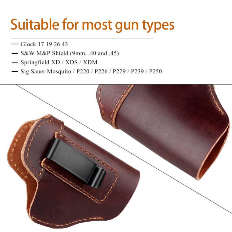 حافظة جلدية مخفية لحمل المسدس لـ Glock 17 19 22 23 43 Sig Sauer P226 P229 Ruger Beretta 92 M92 s & w حافظة مسدسات