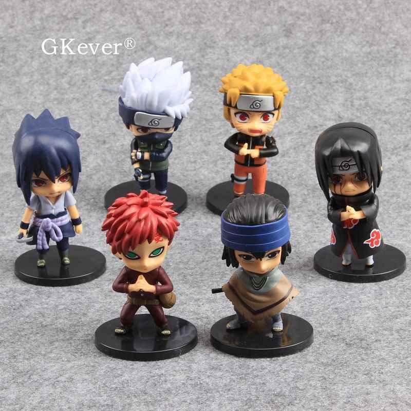 6 pièces/ensemble Naruto figurine jouets 10 CM japon Anime Zabuza Haku Kakashi Sasuke Naruto Sakura PVC modèle enfants cadeau d'anniversaire