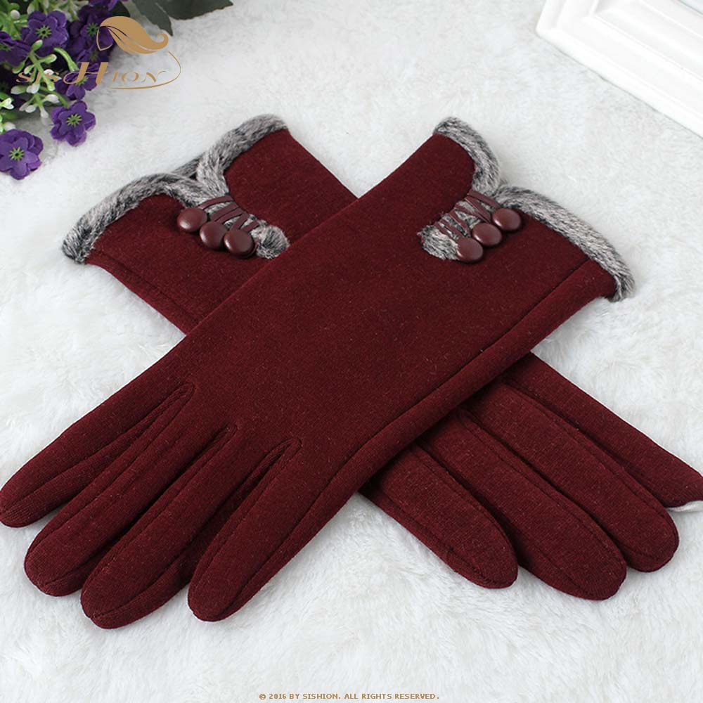 SISHION Fashion Women Touch Screen Winter gloves Outdoor Sport Warm Gloves female Winter Mobile Phone Warm Gloves SP0541