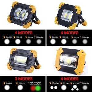 Image 3 - 100W 슈퍼 밝은 Led 휴대용 스포트 라이트 작업 빛 USB RechargeableLed Latern 토치 캠핑에 대 한 2*18650 또는 3 * AA 배터리 사용