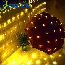 Светодиодный Рождественский светильник занавеска для отдыха