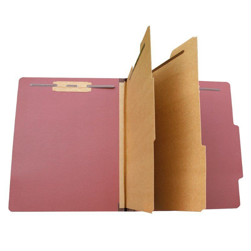 Classification Folders With 2 Divider Durable 2 Prongs Designed To Organize Standard Medical Files, Office Reports