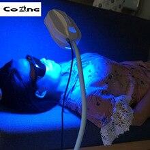 2 цвета светодиодный светильник для лица фотон PDT терапия Омоложение красота уход за кожей