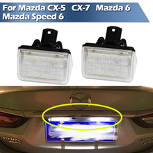 LED License Plate Lamp For Mazda CX-5 2013-2014  for CX-7 2007-2012  for Mazda 6 03-08  for Mazda Speed 6 2006-2007 oem fog lights halogen lamp kit for 2014 2015 2016 mazda cx 5 cx 5 ka0h v4 600
