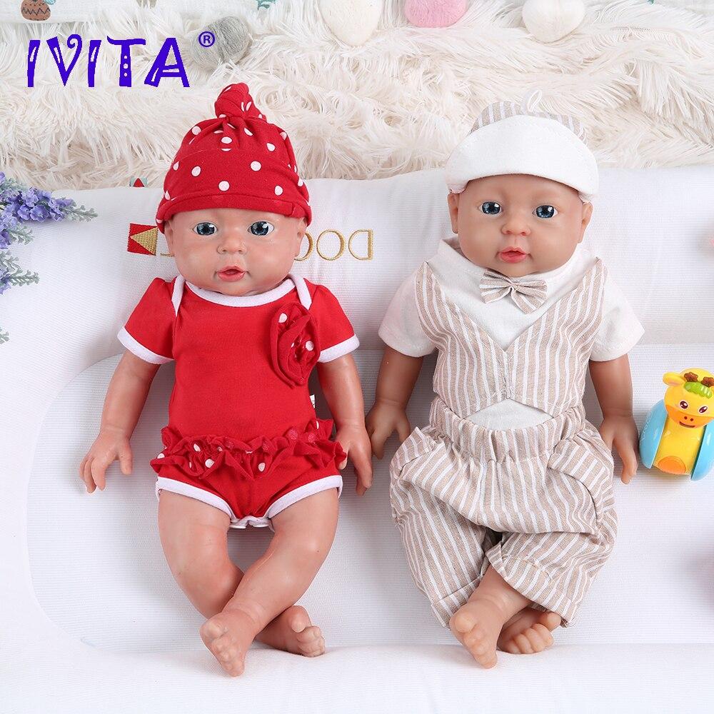 IVITA WB1503 41 см Популярные Полностью силиконовые куклы для новорожденных реалистичные детские игрушки для рождественского подарка