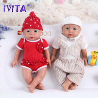 IVITA WB1503 41cm Popular Full Silicone Reborn Baby Dolls Alive Realistic Newborn Lifelike Babies Kids Toys for Christmas Gift
