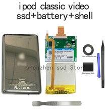 Ssd 128gb 256gb para ipod, vídeo 5th substituição mk3008gah mk8010gah mk1634go ferramenta livre de hdd