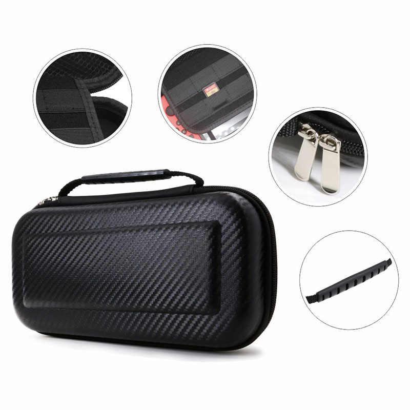IG untuk Nintendo Switch Membawa Case Carbon Fiber Hard Shell Portable Kantong Tas Travel (Hitam)