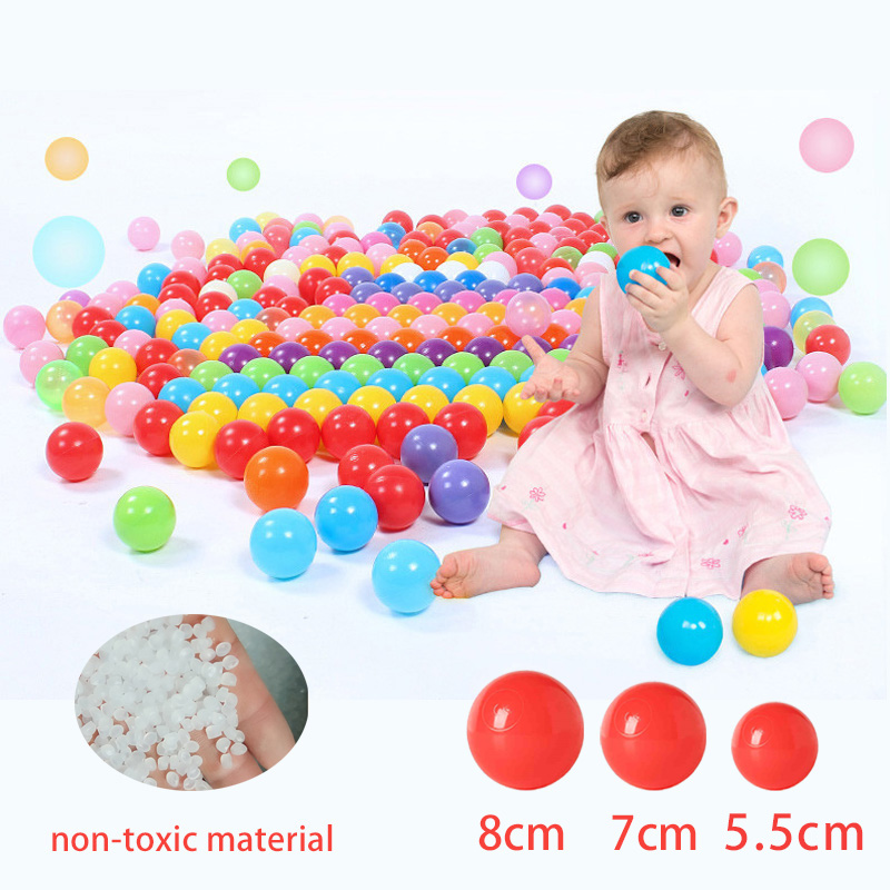 Baby Toys 100 Pcs Ocean Balls For Kids Outdoor Fun Water Wave Ball 5.5/7/8 Cm Soft Plastic Ball Dry Pool Pits Ball Playpen