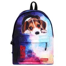 Star Universe Space Printing Backpack for Teenager Girl Boy Starry Sky Bookbag Women Fashion School Bag Dog Cat Student Bookbag