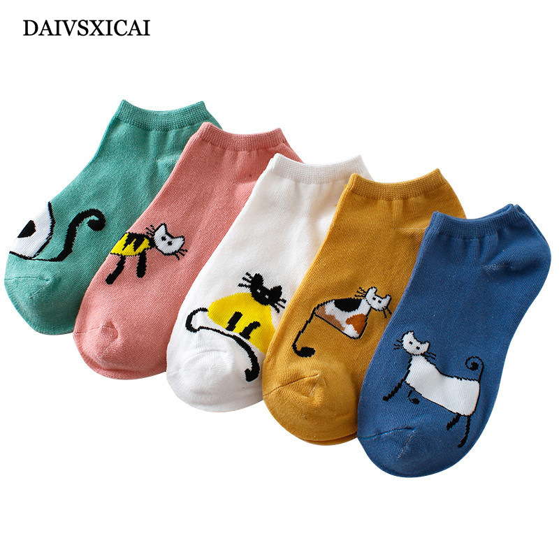 5Pair/lot=10pieces Summer Invisible Ladies Boat Socks Low To Help Casual Cartoon Fashion Womens Casual Socks(4 Color Random)
