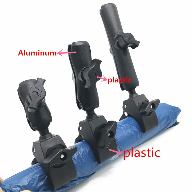 Pljlimsw Tough Claw Handlebar Rail Base Clamp with 1 inch Ball Mount and Double Socket Arm for gopro Motorcycle