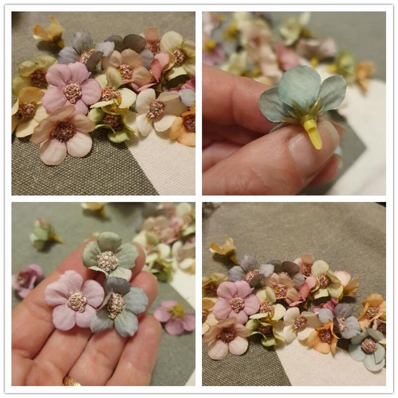 50/100pcs Multicolor Daisy Flower Head Mini Silk Artificial Flower For Wedding Engagement Party Home Decor DIY Garland Headdress 5