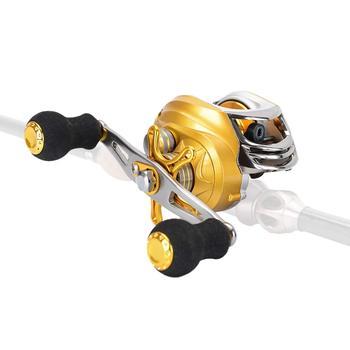 Saltwater Baitcasting Fishing Reel Baitcaster 18+1 Ball Bearing Gear Ratio 6.3:1 Centrifugal Magnetic Dual Brake System
