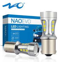 2x P21W led bulb BA15S 1156 socket Car Signal Lamp 5W 12V 1200LM Rear light brake light Turn Signal blinker Lamp 1 year Warranty