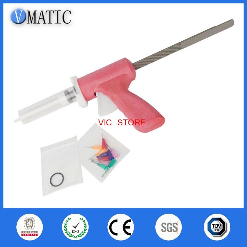 Free Shipping New Arrival Manual Dispenser Dispensing 10 Cc Ml Glue Caulking Gun With Syringe & Needles