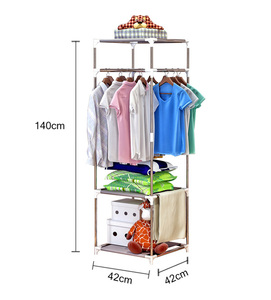 Image 5 - COSTWAY Clothes Hanger Coat Rack Floor Hanger Storage Wardrobe Clothing Drying Racks porte manteau kledingrek perchero de pie