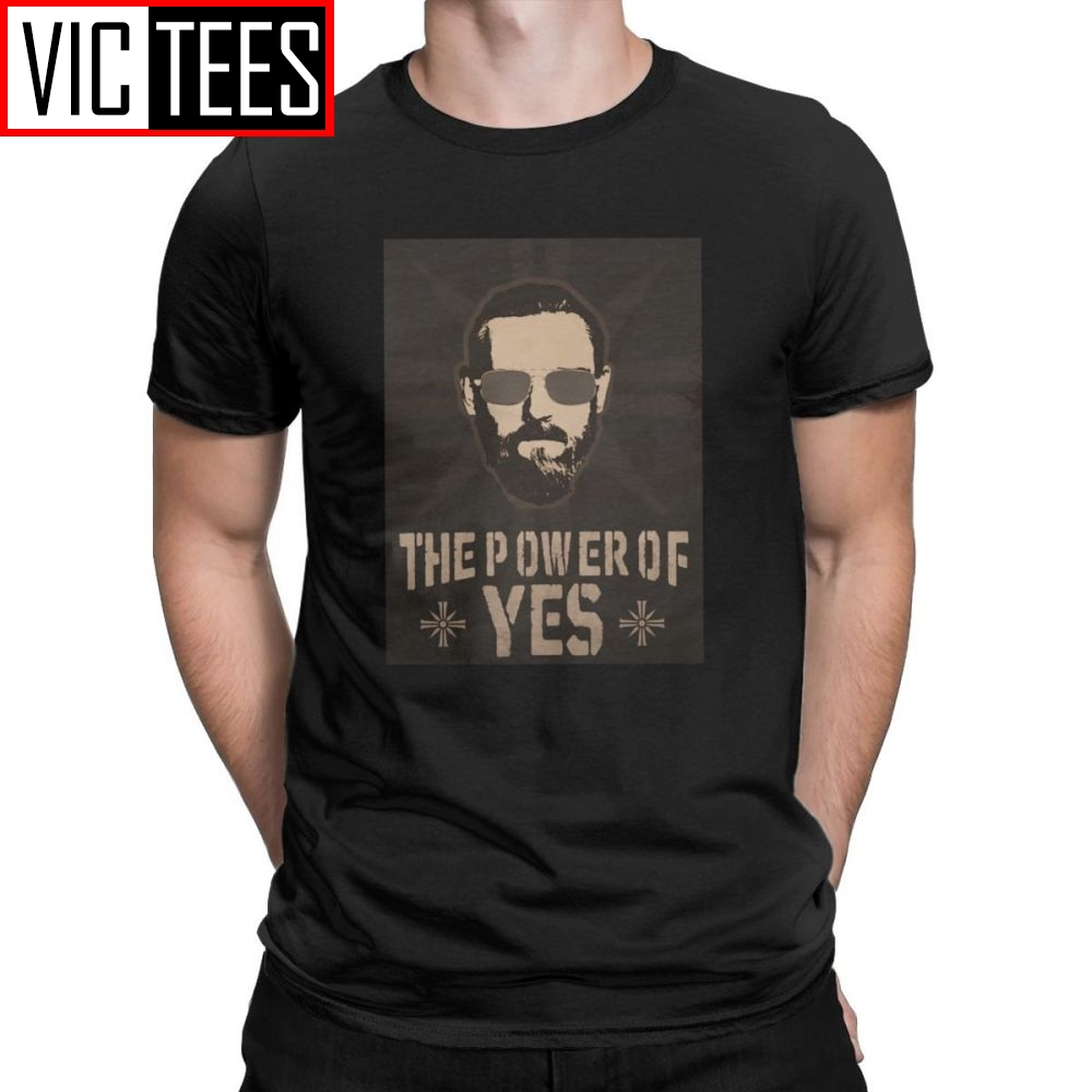 John Seed Tee Shirt Yes Far Cry Game T-Shirt Hope County Cross Videogame Father Man Short Sleeved Hipster Round Neck image