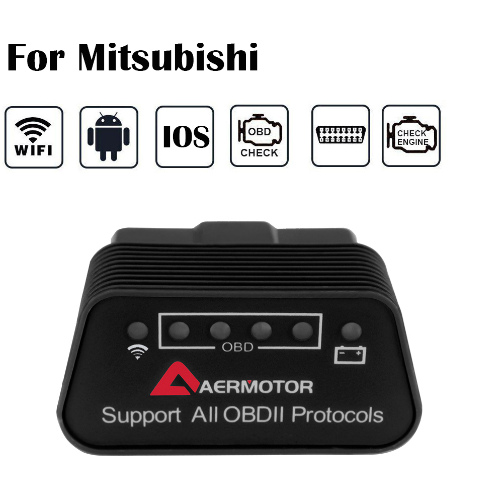 For Mitsubishi Outlander Lancer RVR ASX Pajero Grandis Eclipse Mirage ELM327 WIFI OBD2 Scanner IOS Android Pic18f25k80 Scanner
