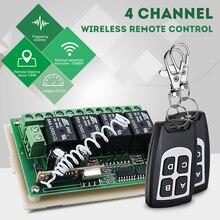 CLAITE 1/2/5 PCS 12V 4CH 433Mhz Drahtlose Fernbedienung Schalter Integrierte Schaltung Mit 2 Sender DIY Ersetzen Teile tool Kits