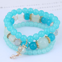 Special Offer European and American fashion trend concise acrylic bead multi-layer temperament Bracelet