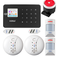 KERUI W18 WIFI GSM Alarm System Security Home Wireless Smart Home Security Alarm APP Control Smoke Sense Motion Detector Kit