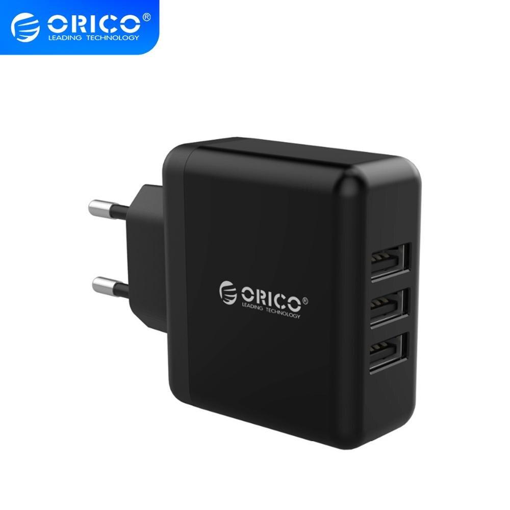 Cargador de pared ORICO USB portátil con 3 puertos USB 5V2.4A 15W Max carga rápida para Xiaomi Samsung Verdadero yo X50 X 50X5G 8GB 128GB 6,57