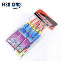 FISH KING Carp Fishing 10PCS/Lot Tackle Ice Fishing Float Bobber Set Light Stick Mixed Size Color Buoy Boia Floats Accessories