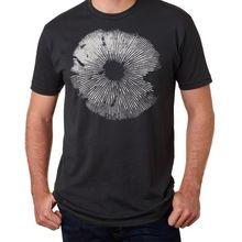 Готическая рубашка в виде грибов майка для микологии футболка