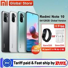 Em estoque versão global xiaomi redmi nota 10 4gb ram 64gb/128gb smartphone snapdragon 678 33w amoled display 48mp quad câmera