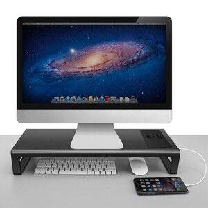 Image 5 - 새로운 열 충전기 PC 데스크탑 노트북 스마트베이스 알루미늄 컴퓨터 노트북베이스 컴퓨터 또는 PC 모니터의 높이를 높이기 위해