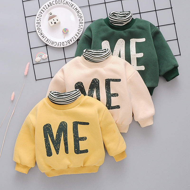 Popodion Winter Clothes Plus Velvet Thickening Children's Turtleneck Wweaters for Boys and Girls CHD20355 3