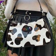 Винтажная сумка багет из искусственной кожи в стиле Харадзюку