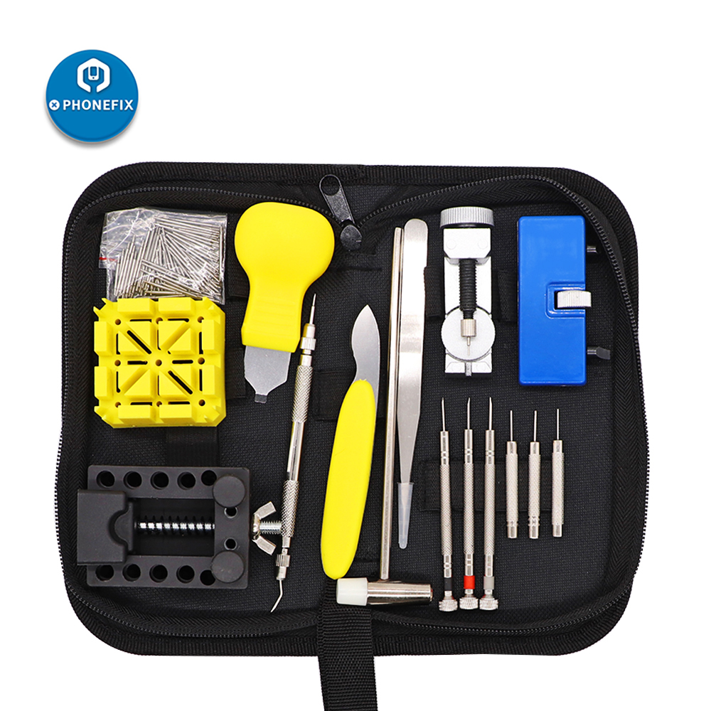 168Pcs Watch Repair Kit Spring Bar Tool Set Watch Battery Replacement Tool Kit Watch Band Link Pin Tool Set With Carrying Case