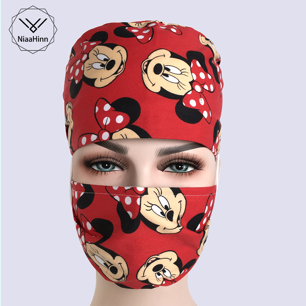 Unisex Surgical Cap Operating Room Masks Beauty Dentist Doctors Nurses Surgery Caps/hat Medical Supplies Hat Medical Accessories