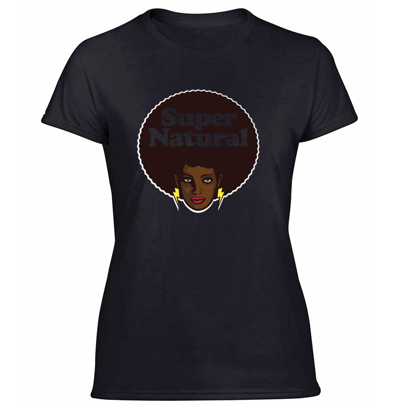 >Black African Pride Power History Melanin Afro T-Shirt For Women Humorous Outfit Women T Shirts Round <font><b>Neck</b></font> <font><b>Streetwear</b></font> Tee Shirt